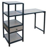 Weybridge Collection Bookcase Folding Desk in Greige
