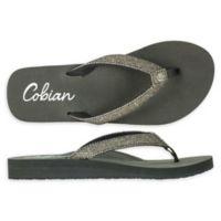 Cobian Size 10 Fiesta Skinny Bounce Woman's Sandal in Pewter