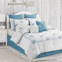 Anthia 12-Piece Queen Comforter Set in Blue/White