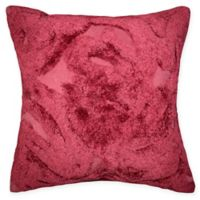 Tufted Chenille Square Throw Pillow in Red