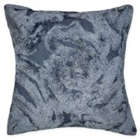 Tufted Chenille Square Throw Pillow in Navy