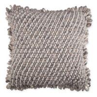 Loop Trim Square Throw Pillow in Natural