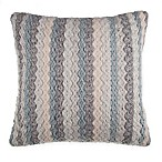 Rustic Chevron Square Throw Pillow in Blue