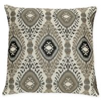 Dharti Ikat Square Throw Pillow in Grey