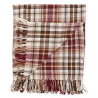 Samuel Plaid Cotton Throw Blanket in Brown