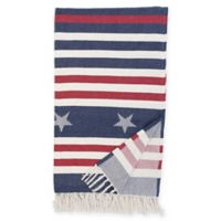 Stars and Stripes Throw Blanket in Blue/Red