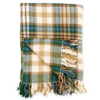 Bronwyn Plaid Cotton Throw Blanket in Tan