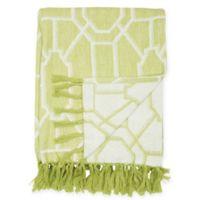 Trellis Cotton Throw Blanket in Peridot