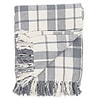 Sheridan Plaid Throw Blanket in Cement