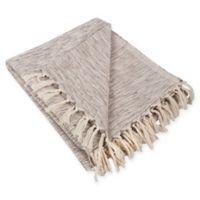 Variegated Fringe Throw Blanket in Brown