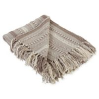 Braided Stripe Throw Blanket in Stone