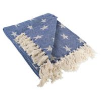 Star Throw Blanket in Blue