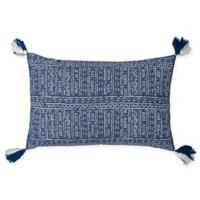 Carol & Frank Cyrus Oblong Throw Pillow in Indigo
