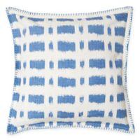 Carol & Frank Dash Square Throw Pillow in Santorini