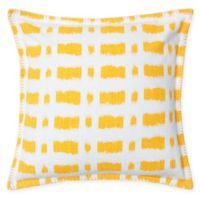 Carol & Frank Dash Square Throw Pillow in Canary