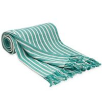 Carol & Frank Bengal Stripe Throw Blanket in Lagoon