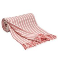 Carol & Frank Bengal Stripe Throw Blanket in Azalea