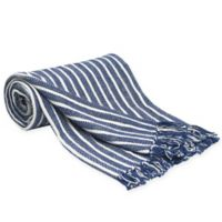 Carol & Frank Bengal Stripe Throw Blanket in Indigo