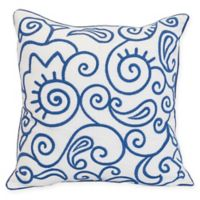 Carol & Frank Indigo Swirl Square Throw Pillow