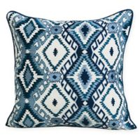 Carol & Frank Jax Square Throw Pillow in Blue