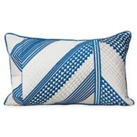 Carol & Frank Niles Oblong Throw Pillow in Blue