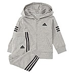 adidas® Size 3M 2-Piece Altitude Hooded Jacket and Pant Set in Grey