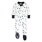 Burt's Bees Baby® Size 12M Scattered Glaciers Footie in Ivory