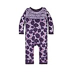 Burt's Bees Baby® Size 0-3M Watercolor Poppies Ruffled Coverall in Purple