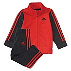 adidas® Size 6M 2-Piece Team Tricot Jacket and Pant Set in Red
