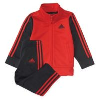 adidas® Size 18M 2-Piece Team Tricot Jacket and Pant Set in Red