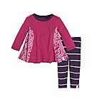 Burt's Bees Baby® Size 0-3M Scattered Butterflies Tunic and Legging Set in Pink