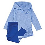 adidas® Size 3M 2-Piece Melange Hooded Top and Legging Set in Lilac