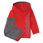 adidas® Size 3M Hoodie and Pant Set in Red