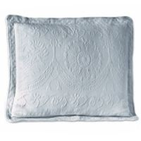 King Charles Matelasse 18-Inch Square Pillow in Provincial Blue