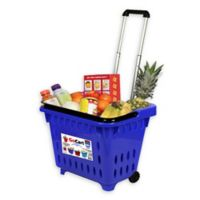 GoCart Rolling Basket in Blue