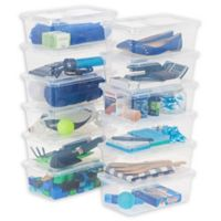 IRIS® 6 qt. Clear Storage Boxes (Set of 12)