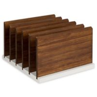 Kate and Laurel® Kalmar Wood File Holder in White and Brown