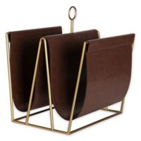 Kate and Laurel® Alton Faux Leather Magazine or File Holder in Brown