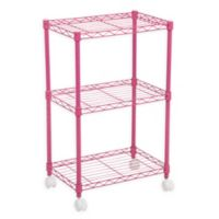 IRIS® 3-Tier Wire Shelf in Pink