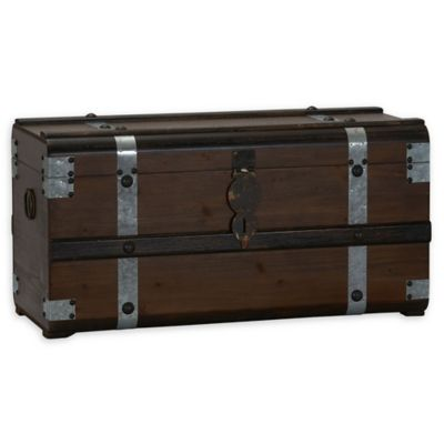 Household Essentials® Steel Band Large Wooden Storage Trunk  sc 1 st  Bed Bath u0026 Beyond & Buy Large Toy Storage from Bed Bath u0026 Beyond