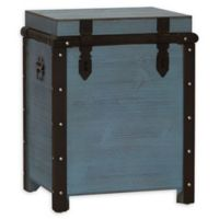 Household Essentials® Weathered Wood Tall Painted Trunk in Seafoam