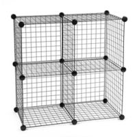 IRIS® Wire Storage Cubes in a Bag in Black