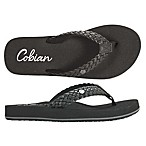 Cobian Size 7 Braided Bounce Women's Sandals in Black