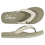 Cobian Size 9 Braided Bounce Women's Sandals in Cream