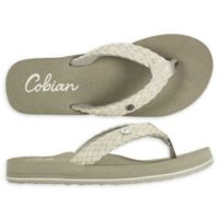 Cobian Size 10 Braided Bounce Women's Sandals in Cream