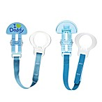MAM Love & Affection I Love Daddy Paci Clip with Leash Set in Blue