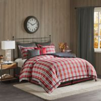 Woolrich Williamsport Twin Comforter Set in Red/Grey