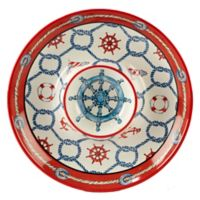 Certified International Coastal Life Chip and Dip Tray in Red/Blue