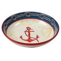 Certified International Coastal Life Pasta Bowl in Red/Blue