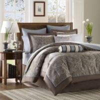Aubrey California King 12 Piece Jacquard Comforter Set